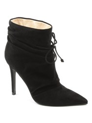 Daniel Erika Ruched Front Ankle Boots Black