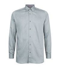 Ted Baker Teoface Circle Print Shirt Male Grey