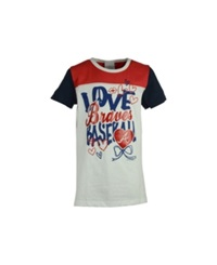 5Th And Ocean Girls' Atlanta Braves Love Baseball T Shirt