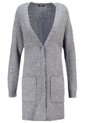 Mbym Vella Cardigan Grey Melange Mottled Grey