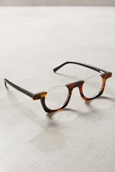 Anthropologie Rimless Brow Reading Glasses Brown Motif