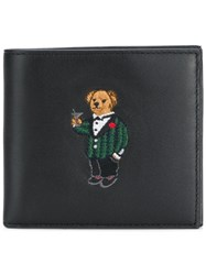 Polo Ralph Lauren Embroidered Teddy Wallet Black