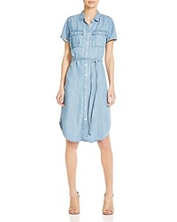 Andrea Jovine Chambray Shirtdress Compare At 98 Light Blue