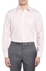 Nordstrom Big And Tall Shop Traditional Fit Non Iron Solid Dress Shirt Pink Nostalgia