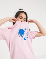 Lazy Oaf Oversized T Shirt With Love Sick Graphic Purple