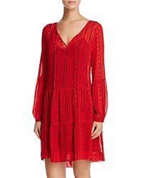 Sanctuary Lana Peasant Dress Red Boho