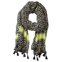 Betty Barclay Long Animal Print Scarf Beige Black