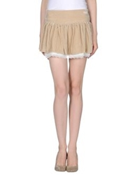 Atelier Fixdesign Mini Skirts Beige