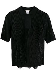 Marco De Vincenzo Embroidered Fitted Blouse Black