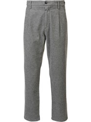 Closed Cropped Trousers Grey