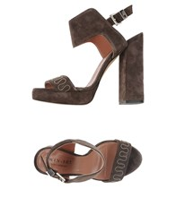 Twin Set Simona Barbieri Footwear Sandals Women Dark Brown