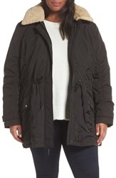 Andrew Marc New York Plus Size Nandie Hooded Parka Black