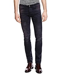 The Kooples Slim Fit Jeans In Washed Black Denim