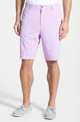 Men's Big And Tall Cutter And Buck 'Barclay' Drytec Flat Front Golf Shorts Magnetic Purple
