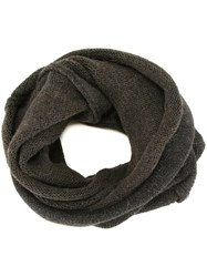 Isabel Benenato Buttoned Detail Scarf Brown