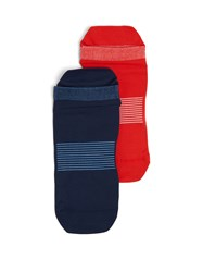 Adidas By Stella Mccartney Set Of Two Ankle Running Socks Red Multi