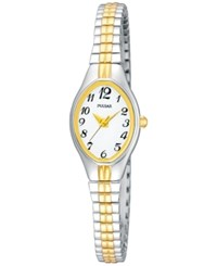 Pulsar Women's Two Tone Stainless Steel Bracelet Watch 19Mm Pc3272