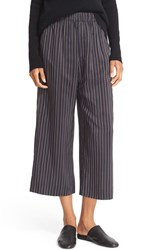 Vince Women's Stripe Slouchy Pull On Crop Pants