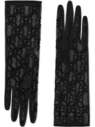 Gucci Tulle Gloves With Gg Motif Black