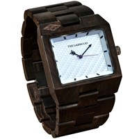 The Garwood Domino Wood Watch White