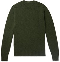Anderson And Sheppard Camoshita Shetland Wool Sweater Green