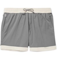 Brunello Cucinelli Mid Length Colour Block Swim Shorts Gray
