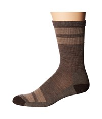 Smartwool Striped Hike Light Crew Taupe Men's Crew Cut Socks Shoes