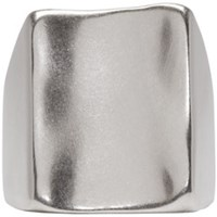 Maison Martin Margiela Silver Wide Face Ring