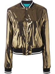 Just Cavalli Metallic Grey Bomber Jacket Women Polyester Viscose 44