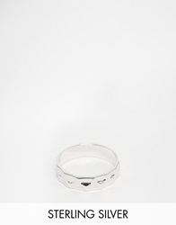 Seven London Sterling Silver Hammered Ring