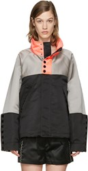 Alexander Wang Tricolor Oversized Windbreaker Jacket