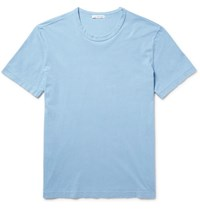 James Perse Combed Cotton Jersey T Shirt Light Blue