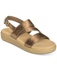 Aerosoles Globetrotter Espadrille Slingback Sandals Women's Shoes Bronze Snake