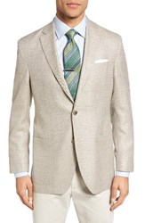 David Donahue Men's Big And Tall Aiden Classic Fit Wool Blazer Stone