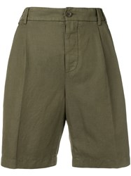 Aspesi High Waisted Chino Shorts Green