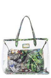 Cxl By Christian Lacroix 'Amaryllis' Clear Tote Green Jardin