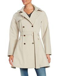 Ivanka Trump Belted Trench Coat Flax