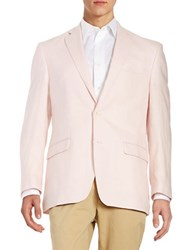 Lauren Ralph Lauren Two Button Linen Jacket Pink