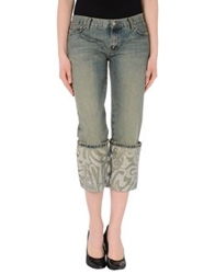John Richmond Denim Capris Blue