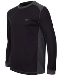Greg Norman For Tasso Elba Men's Thermal Shirt Only At Macy's Deep Black