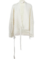 Chloe Open Knit Cardigan Nude And Neutrals