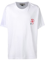 Vivienne Westwood 'Got A Life ' Embroidered T Shirt White