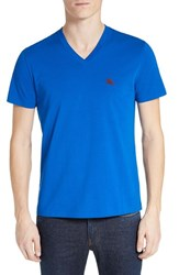 Burberry Men's Brit 'Lindon' V Neck Cotton T Shirt