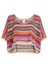 Ale By Alessandra Striped Crop Top Gr. M L