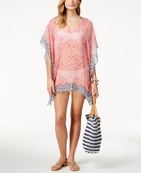 Tommy Bahama Printed Sheer Poncho Cover Up Women's Swimsuit