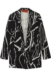 Missoni Oversized Intarsia Wool Blend Blazer Black