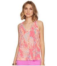 Lilly Pulitzer Jaylynne Top Multi Never Been Betta Reduced Women's Sleeveless