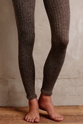 Anthropologie Marled Knit Tights Brown Motif