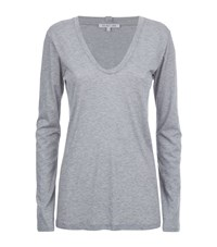 Helmut Lang Scoop Neck Long Sleeve T Shirt Female