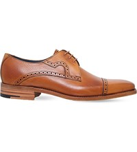 Barker Opollo Leather Derby Shoes Tan